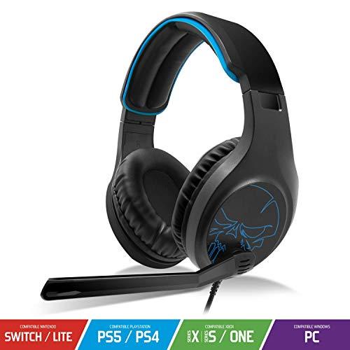 SPIRIT OF GAMER - ELITE-H20 - Auriculares Black Audio Pro Gamer - Cuero De Imitación - Micrófono Con Funcionalidad Flip And Mute - Compatible Con PS5 / XBOX X / PC / PS4 / XBOX ONE / Switch
