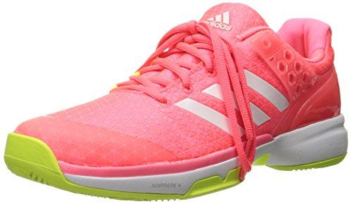 adidas Women's Adizero Ubersonic 2 w Tennis Shoe, Flash Red White/Electricity, 10.5 M US