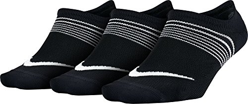 NIKE 3PPK Women Lightweight Train Calcetines, Mujer, Negro/Blanco, M