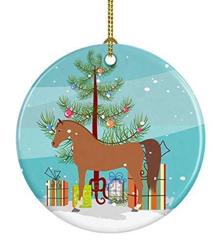 Montrwie - Adorno de cerámica para árbol de Navidad, diseño de caballo árabe