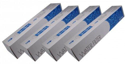 Waterfilter DD-7098 - Extern waterfilter voor Amerikaanse stijl Koelkastvriezers, koelkasten compatibel met Siemens 00750558, Bosch 00750558, Neff 00750558, Vervanging van 00497818 (Set van 4)
