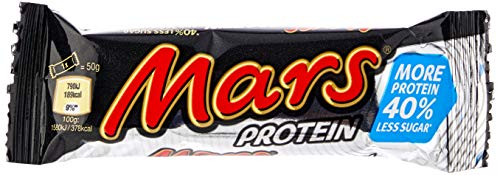 Mars Protein Bar, Chocolate, High Protein Snacks, 18 Bars of 50g
