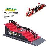 KETIEE Finger Skate Park Kit Juego de minimonopatín de Dedo con rampa y Otros Accesorios Diapasón de rampa Parque Juguete para Niños (F)