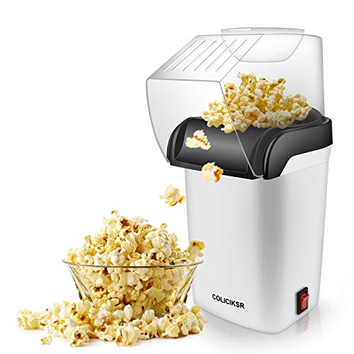 hamilton beach popcorn poppers Hot Air Popcorn Maker,Fast Table Electric Popcorn Popper with Wide Mouth Design, ETL Certified, BPA-Free, No Oil Required Popcorn Machine for Home Movie Theater. (Popcorn Popper)