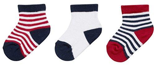 Playshoes Erstlingssocken geringelt, 3er Pack, 0-3 Monate, Chaussettes Mixte bébé, Multicolore (Original), Taille unique (Taille fabricant: 0-3M)
