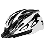 Elegantstunning - Casco de equitación para bicicleta, equipo para bicicleta de carretera, bicicleta de montaña, gorro de equilibrio seguro para hombre y mujer, Bianco polvere, talla única