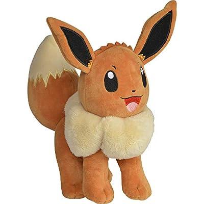 "Pokémon Eevee Plush Stuffed Animal Toy - 8"" by Wicked Cool Toys"