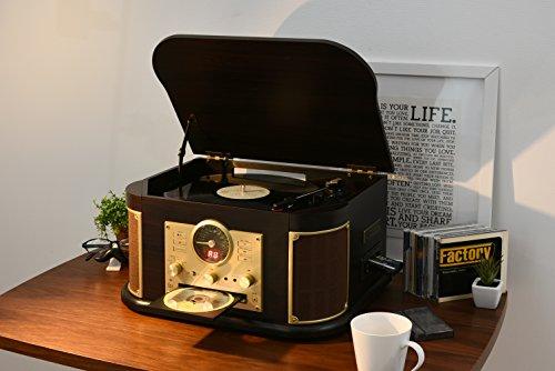 山善(YAMAZEN)キュリオムマルチレコードプレーヤーリモコン付き(CD/レコード/カセットテープ/AMFMラジオ/USB/SD)MRP-M100CR(DB)