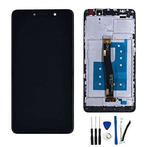 SOMEFUN LCD Screen Replacement for Huawei Honor 6X BLN-L21 BLN-L22 BLN-L24 BLN-AL40 5.5' LCD Display Touch Screen Digitizer Assembly [Balck with Frame]