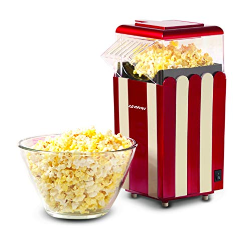 Buy Bargain Egofine Popcorn Maker Machine, 1200W Healthy Hot Air Popcorn Popper, No Oil Needed