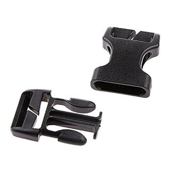 Sharplace Boucle de Sangle en Plastique Remplacement Buckle Sangle Sac À Dos 20/25/38/50mm - Noir, 50mm