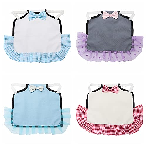 4Pcs Chicken Saddles, Cute Hen Apron Feather Fixer, Apron for Poultry Wing Back Protector, Hen Care Supplies