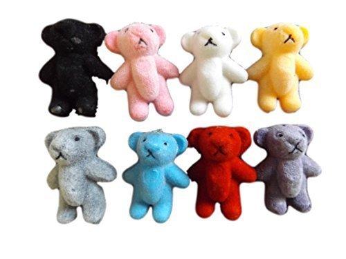 fat-catz-copy-catz 5 ou 10 Small Minuscule feutre Miniature de poupée maison Artisanat ours en peluche 1/12th échelle couleurs diverses 1.4\
