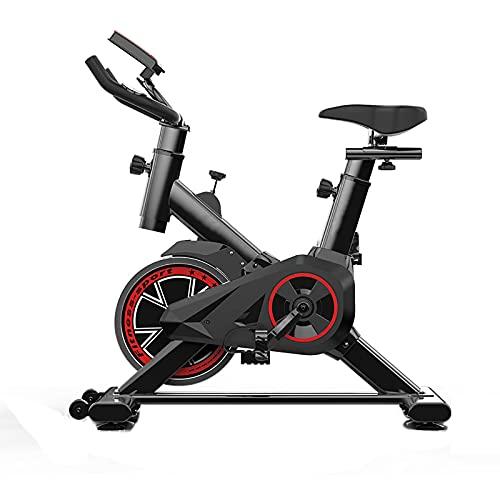 Bicicleta estática plegable Bicicleta de ciclismo para interiores Bicicleta vertical magnética Bicicleta estática con bandas de resistencia en los brazos, sensor de pulso, mancuernas, bicicleta verti