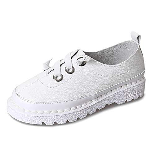 Mujeres Casual Pisos Moda Bowknot Decorado Señoras Plataforma de Encaje hasta mocasín Zapatos de Fondo Suave