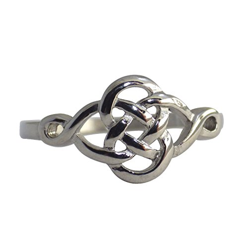 Fantasy Forge Jewelry Celtic Dara Knot Ring Womens Stainless Steel Viking Band Size 8