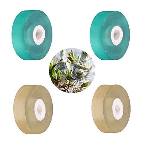 Veredelungsband, Selbstklebendes Pfropfband, Ausrüstung zur Reparatur der feuchtigkeitsbeständigen Schicht einer elastischen Bandpflanze, zum Pfropfen von Gartenblumen, Gemüse und Obstbäumen, 4 Rollen