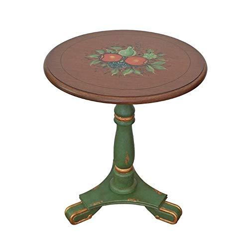 Xiaolin Table À Manger Ronde en Bois Parloir Sofa Table Basse Table D'appoint Multi-usages Petit Espace Table De Nuit (Couleur : A)