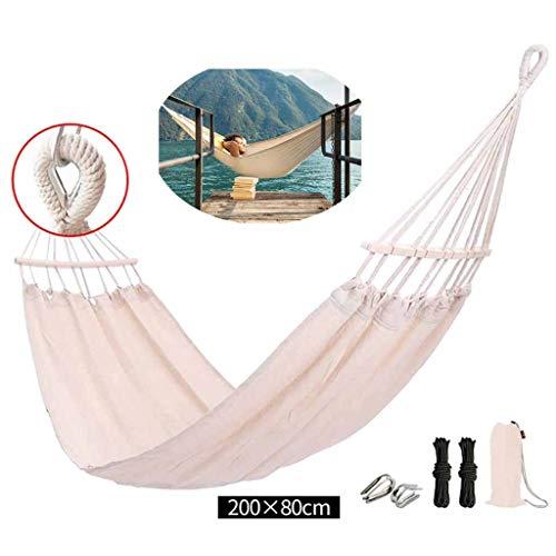 QWSA Hamac Parachute Hamac ExtéRieur Balanç Double Design Lavable Toile pour Adultes Chambre à Coucher Camping Terrasse