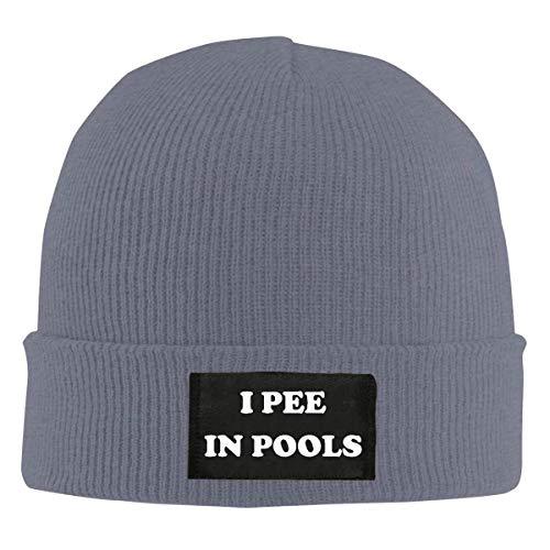 DLing Ich pisse in Pools Beanie Mütze Winter warme Strick Skull Hat Cap für Unisex schwarz