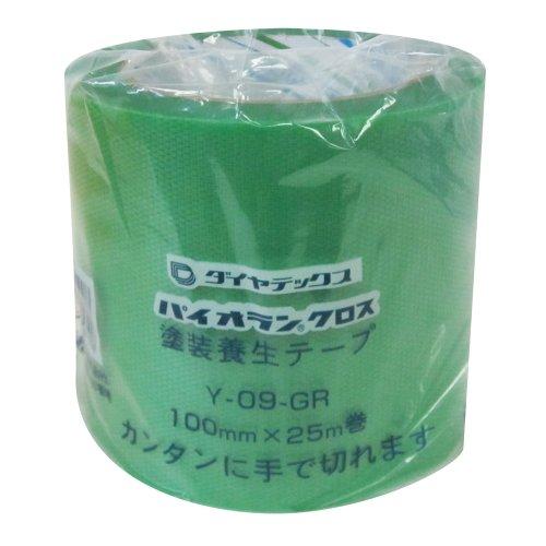 ダイヤテックス パイオランクロス 養生用テープ 緑 100mm×25m Y-09-GR [マスキングテープ]