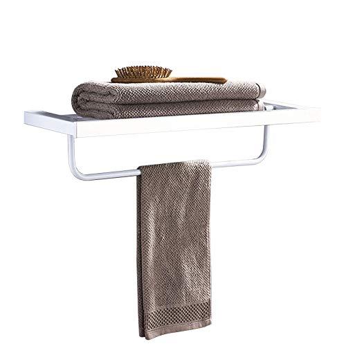 YWYW Toallero Acero Inoxidable 304 Pintura Blanca para Hornear toallero Doble toallero Plegable y móvil en baño e Inodoro