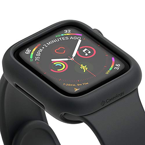 Caseology Nero, Cover Apple Watch Series 5 40mm, Protezione Flessibile e Rinforzata, Compatibile con Apple Watch Series 5 (2019) / Series 4 (2018) (Black)