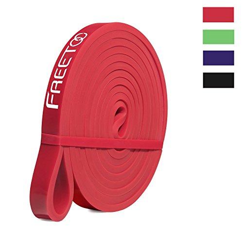 FREETOO Fitnessband Premium Resistance Bands Fitnessbänder Theraband Naturlatexmaterial Widerstandsband für Sporttraining Pilates usw.