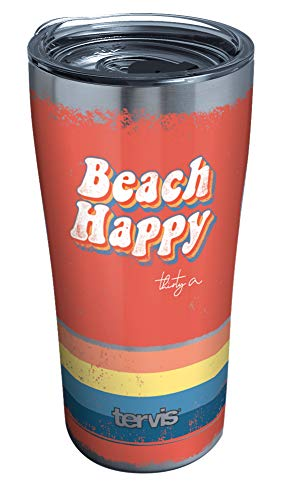 Tervis 1362598 30A Beach Happy Retro Stripes Insulated Tumbler, 20oz, Stainless Steel