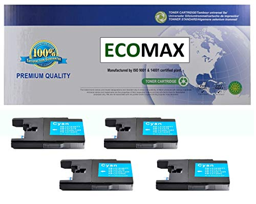 4-Pack Compatible Ink for Brother LC75 MFC-J280W, MFC-J425W, MFC-J430W, MFC-J625DW, MFC-J825DW, MFC-835DW, MFC-5910DW, MFC-J6510DW, MFC-J6710DW, MFC-J6910DW