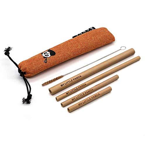 Selezione di cannucce organiche in bambù, perfette per il tuo prossimo frullato, cocktail, frappè o succo di frutta. Sunglow