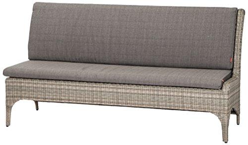 Siena Garden 508521 Calado 2er Sofa, Modul Armlehne links, Taupe-grau, 77x183x96 cm, 3 Stück