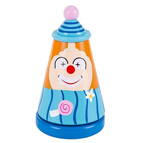 Lihgfw Houten Muziek Clown Box Toy Rotating jongen en meisje van de baby Verlichting Prenatal Education Soothing Ouder-kind interactief spel leuk speeltje