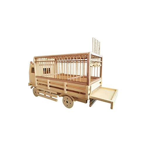 Jaula dpájaros duradera y ecológica, Jaula de pájaros Hand Craft Craft Bamboo Bird Cage Car Styling Bird House Apto para gorrión / perla / jade pájaro duradero Jaula para pájaros Parrotlet Finch Canar