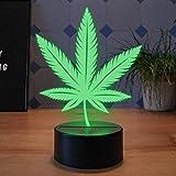 Lampara decorativa LED Hoja de Cannabis - Elbeffekt - Lámpara de Hierba - Cannabis Lamp Decoracion de Hierbas para Decoración de Hierbas Cannabis de Regalo