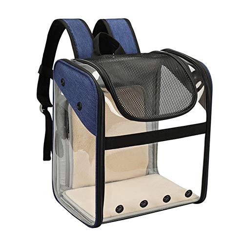 HHORD Mochila Portátil Transpirable con Cinturón De Seguridad-Bolsillos, Extensible Volver Más Espacio Ideal para Llevar Los Perros De Perrito,Darkblue