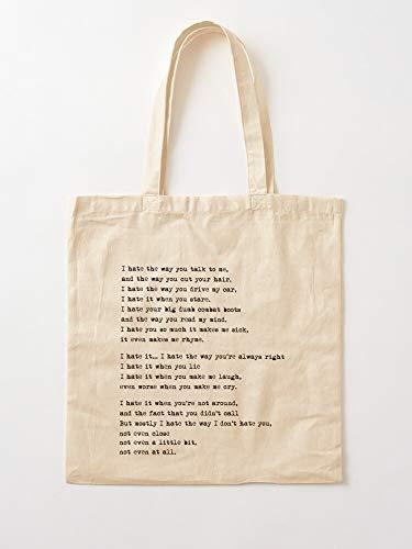 Stiles You Verona and 10 I Heath Ledger Julia Patrick Things Hate About Kat | Einkaufstaschen aus Leinen mit Griffen Einkaufstaschen aus nachhaltiger Baumwolle