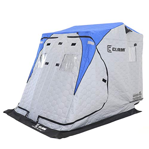 Clam 112847 Nannok XL Thermal-2 anglers, Grey/Blue, Ice Shelter