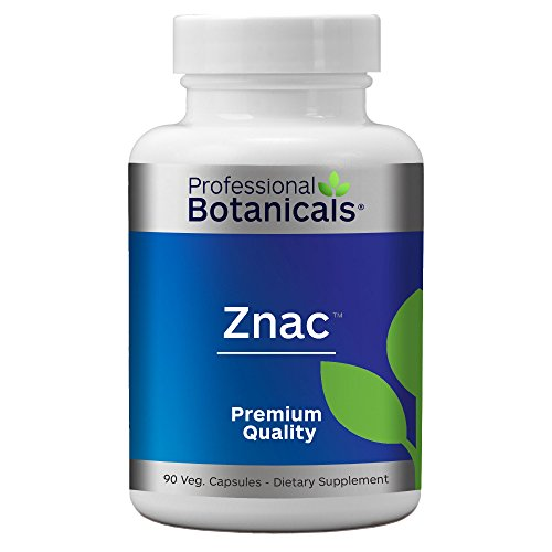 Professional Botanicals ZNAC - Highly Absorbable Zinc Supplement to Support Immune Function, Healthy Metabolism and Prostate Health - 90 Vegetarian Capsules