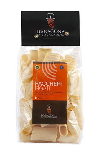 PASTA D'ARAGONA - PACCHERI RIGATI - Pasta di Gragnano IGP trafilata al bronzo - Pacco da 2 pz x 500 gr
