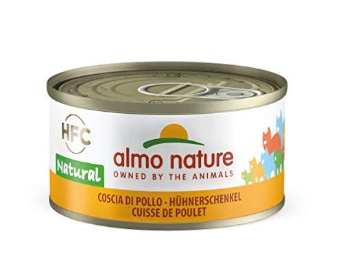 Almo Nature HFC Natural Katzenfutter nass -Hühnerschenkel 24er Pack (24 x 70g)