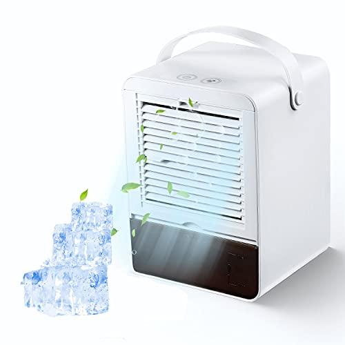 Portatile Air Cooler Nessun Rumore Condizionatore Mini Cooler Fan con 3 Velocità per Home Office (Bianca)