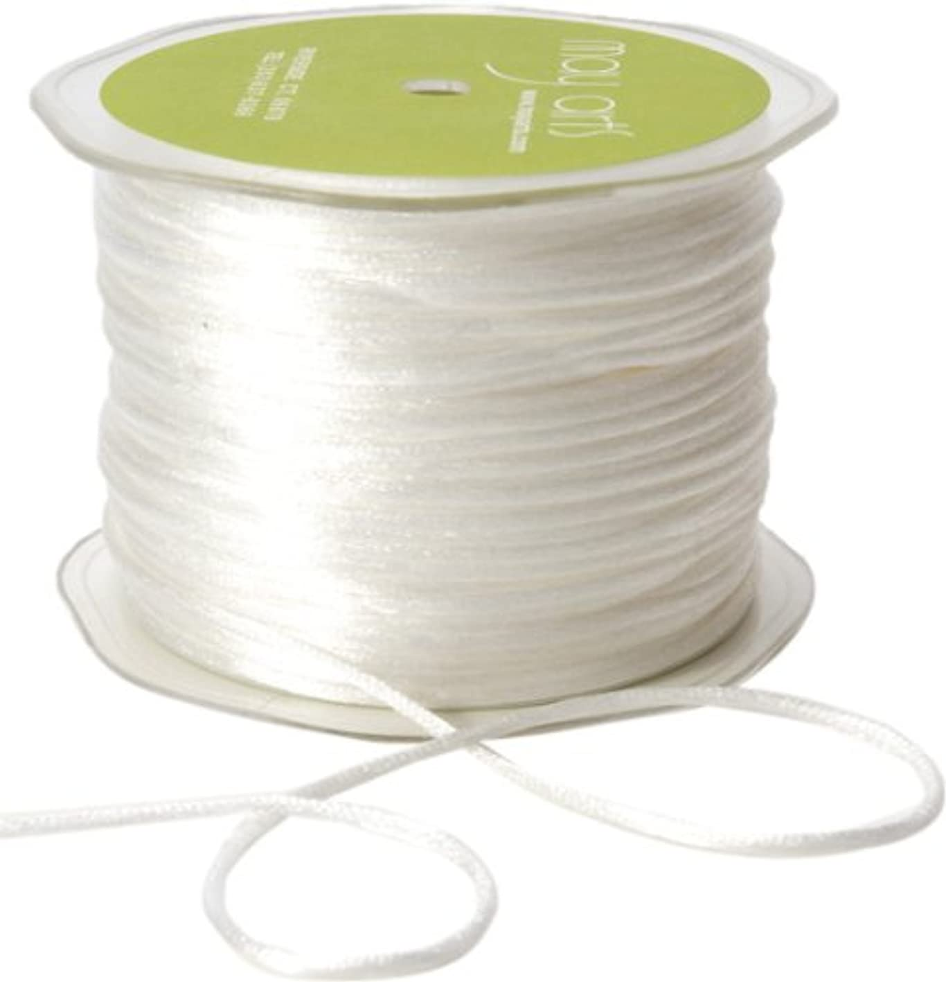 May Arts Ribbon, White Satin String mujjvvztmnl370