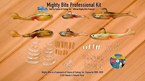 Mighty Bite Pro Kit - 6 Lure Starter Set- Bonus 90 min DVD-Pro's Pick for Success