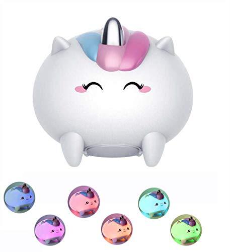 GJX lamp van lichtgewicht silicone, zacht, bont, cartoon, schattig, met USB-vulling, bureaulamp, led, voor kinderen/verjaardagscadeau