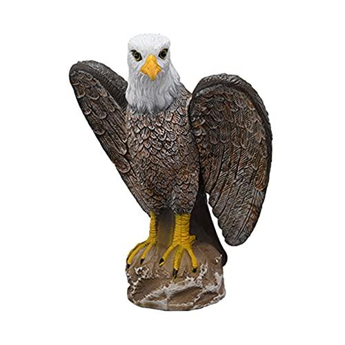 MERIGLARE Figuras de Aves de Presa de Jardín de águila Falsa, Modelos de Animales Realistas de Plástico, Figuras de Juguete, Juguete Educativo para Colección