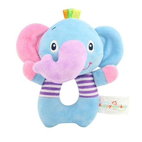 TOYMYTOY Bebé recién nacido suaves rattle Juguetes de traqueteo Juguetes de felpa para niños (Elefante)