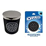 OREO Cookie Scented Candle And Lip Balm Set! Includes Authentic Scented Candle And Nourishing Lip Balm! Oreo Cookies Inspired Candle And Lip Balm! Smell and Tastes Like Milk's Favorite Cookie!