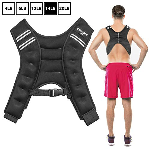 Synergee Weighted Vest Infinity Vest Workout Equipment - Body Cardio Walking or Running Vest - 14lbs