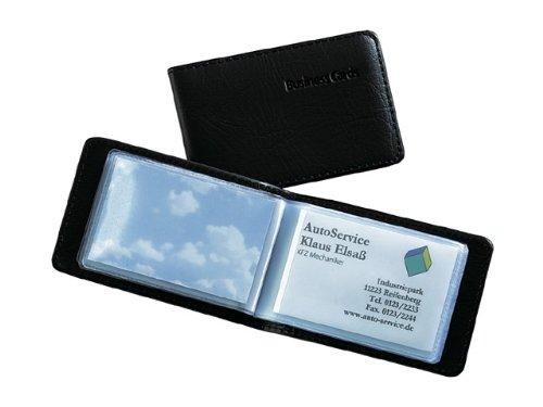 SIGEL VZ170 Tarjetero, aspecto de cuero, plástico, para hasta 40 tarjetas (màx. 90x58 mm)